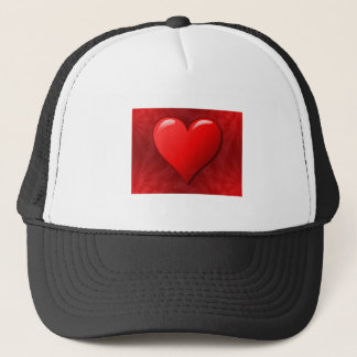 Red Abstract Heart Trucker Hat