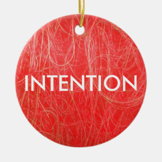 Red Abstract INTENTION Ornament