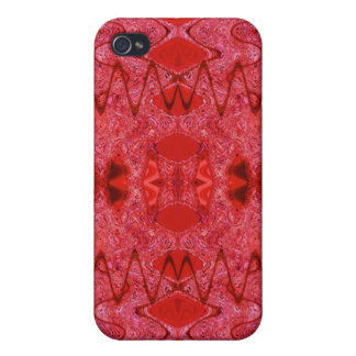 red abstract iPhone 4/4S case
