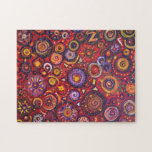 Red Abstract Jigsaw Puzzles