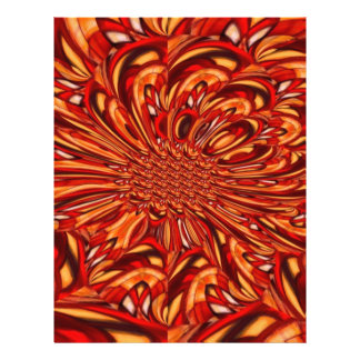 Red Abstract Kaleidoscopic Fractal Personalized Flyer