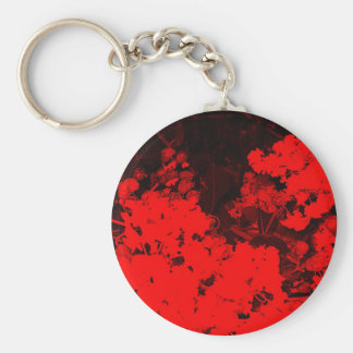 Red Abstract Key Chains