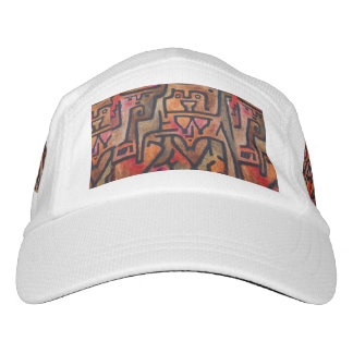Red Abstract Klee Modern Headsweats Hat
