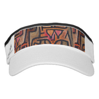 Red Abstract Klee Modern Visor