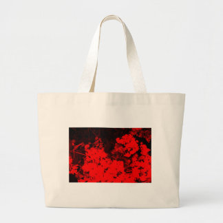 Red Abstract Large Tote Bag