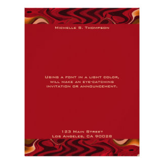 red abstract letterhead