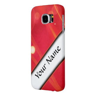 red abstract lights samsung galaxy s6 case