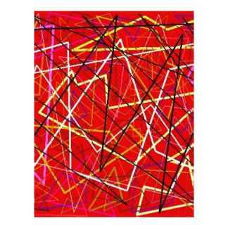 Red abstract lines letterhead