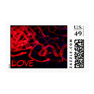 Red Abstract Love Postage Stamp