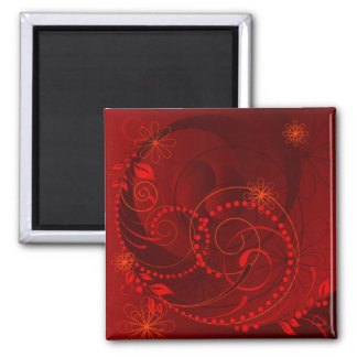 red abstract magnet