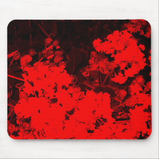 Red Abstract Mouse Pad