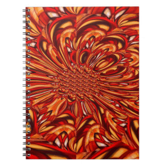 Red Abstract Notebook