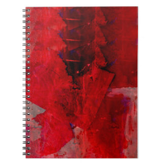 Red Abstract Spiral Note Book