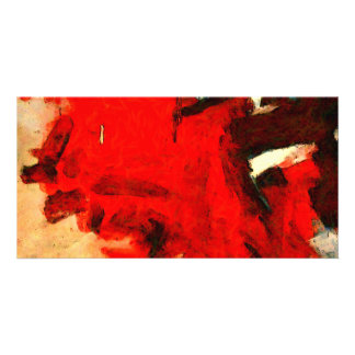 Red Abstract Painting Card