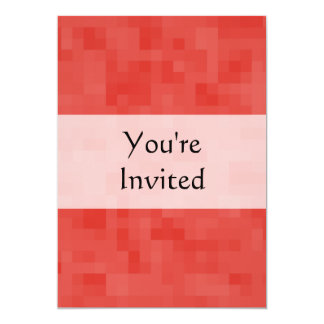 Red Abstract Pattern. 5x7 Paper Invitation Card