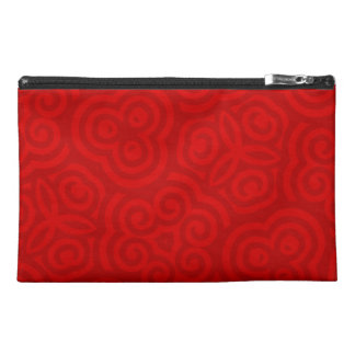 Red Abstract Pattern Travel Accessories Bag