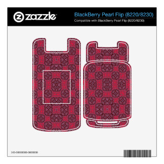 Red Abstract Pattern BlackBerry Pearl Decal