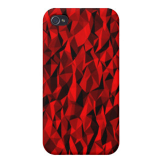 Red abstract pattern cases for iPhone 4