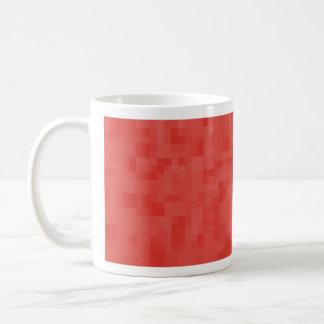 Red Abstract Pattern. Coffee Mug