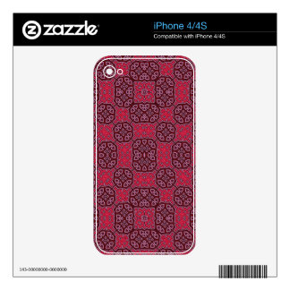 Red Abstract Pattern Decal For The iPhone 4S