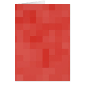 Red Abstract Pattern. Greeting Card