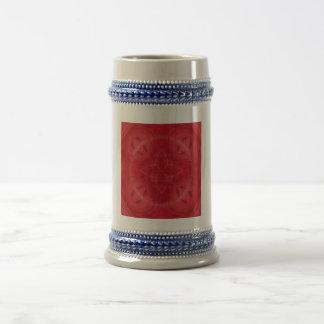 Red abstract pattern mug
