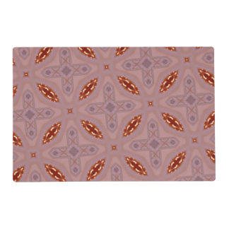 red Abstract Pattern Laminated Place Mat