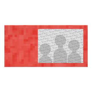 Red Abstract Pattern. Photo Card
