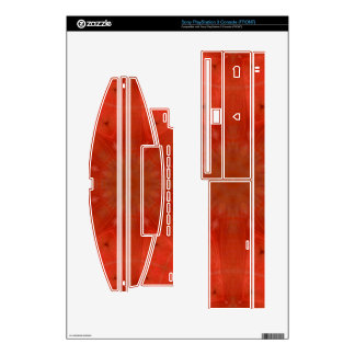 Red abstract pattern PS3 console decals