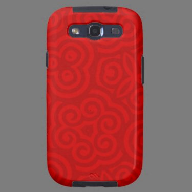 Red Abstract Pattern Samsung Galaxy SIII Covers