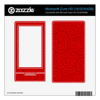 Red Abstract Pattern Decals For The Zune HD