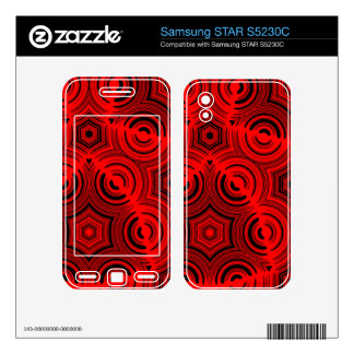 Red abstract pattern samsung STAR S5230C skins