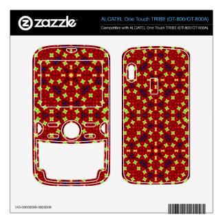 Red abstract pattern ALCATEL tribe skin
