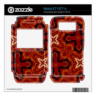 Red abstract pattern decals for nokia e71x