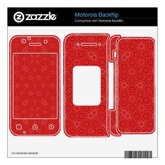 Red abstract pattern motorola backflip decals