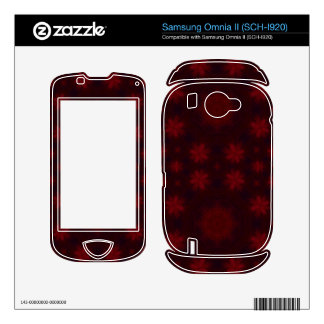 Red abstract pattern samsung omnia II decal