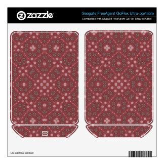 Red Abstract Pattern FreeAgent GoFlex Skin