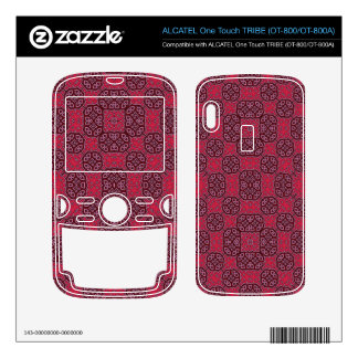 Red Abstract Pattern ALCATEL Tribe Skins