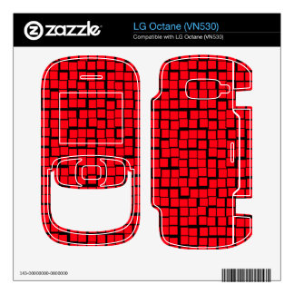 Red abstract pattern skins for the LG octane