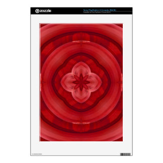 Red abstract pattern skin for PS3