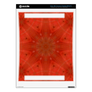 Red abstract pattern skin for xbox 360