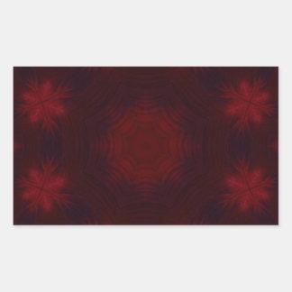 Red abstract pattern rectangular sticker