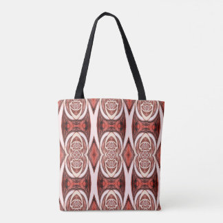 Red Abstract Pattern Tote Bag