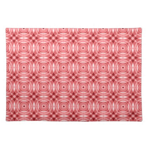 Red Abstract Placemats