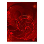 red abstract postcards