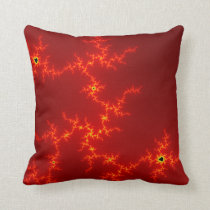 red abstract retro throw pillow