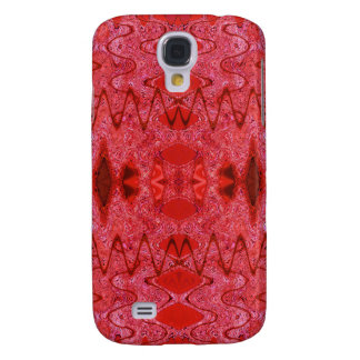 red abstract samsung galaxy s4 cover