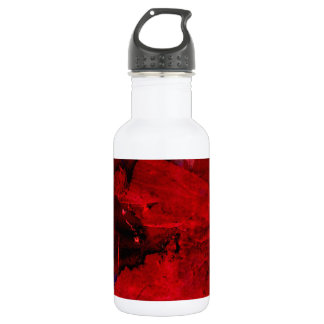 Red Abstract Stainless Steel Water Bottle