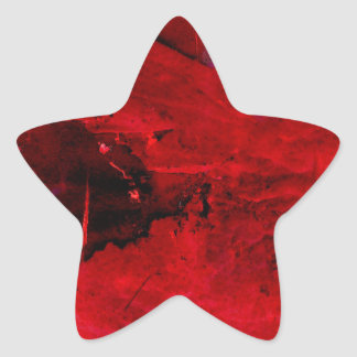 Red Abstract Star Sticker