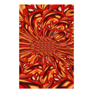 Red Abstract Stationery